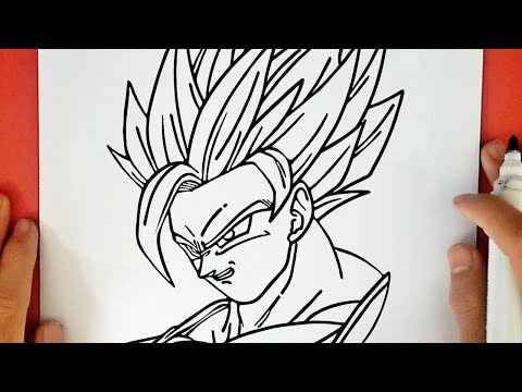 How To Draw Goku Super Saiyan 2 From Dragon Ball Z Youtube