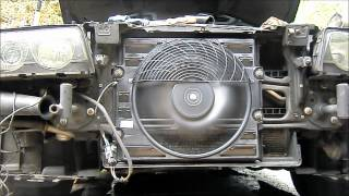 BMW E38 and E39 Auxiliary fan: test if yours is bad or not