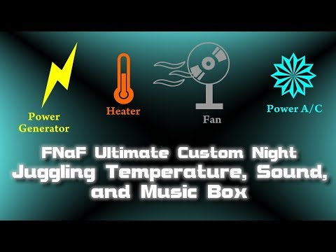 FNaF Ultimate Custom Night - Juggling Temperature, Sound, and Global Music Box with Sample Time Map