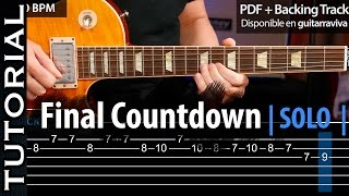 Cómo tocar el SOLO de THE FINAL COUNTDOWN  guitarraviva (épico)