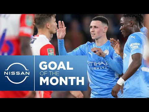 FODEN SCREAMER!  Goals for the month of September |  21/22 |  Silva, Foden & Jesus Highlights