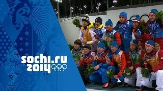 Biathlon - Men's 4x7.5km Relay - Russia Win Gold | Sochi 2014 Winter Olympics