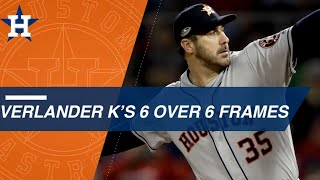 Verlander strikes out six over six innings in ALCS Game 1
