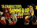 YouTube Turbo Transformers Characters summed up in one quote