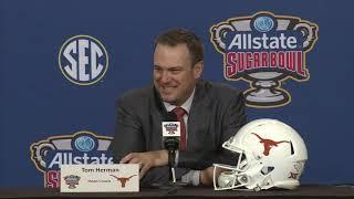 Texas coach Tom Herman Sugar Bowl Press Conference