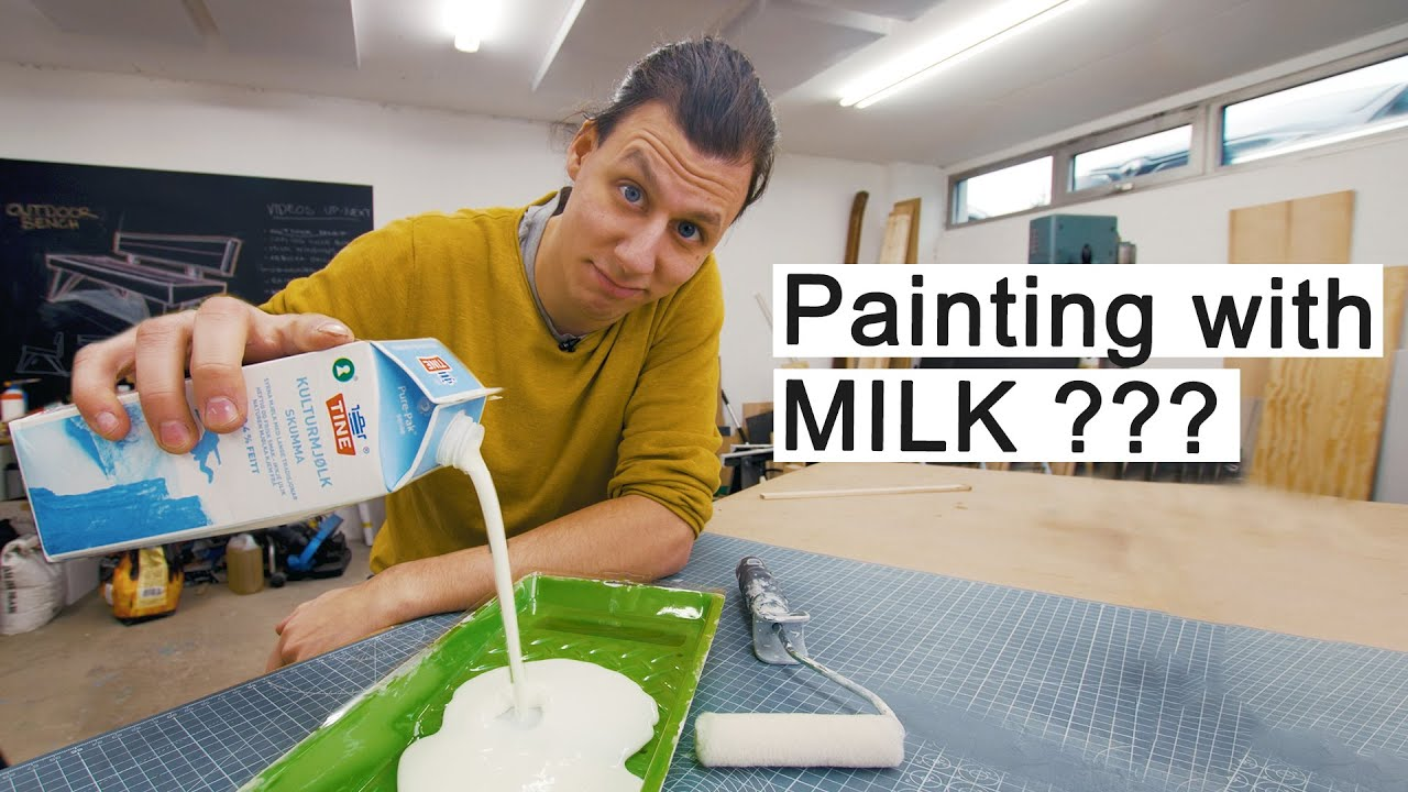 Painting My Windows With MILK?? - DIY Frosted Windows ...