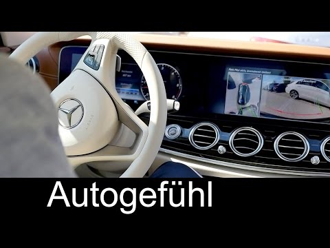 Remote Parking all-new Mercedes E-Class onboard & smartphone app - E-Klasse automatisches Einparken