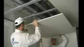Repeat youtube video Montáž sadrokartónového stropu