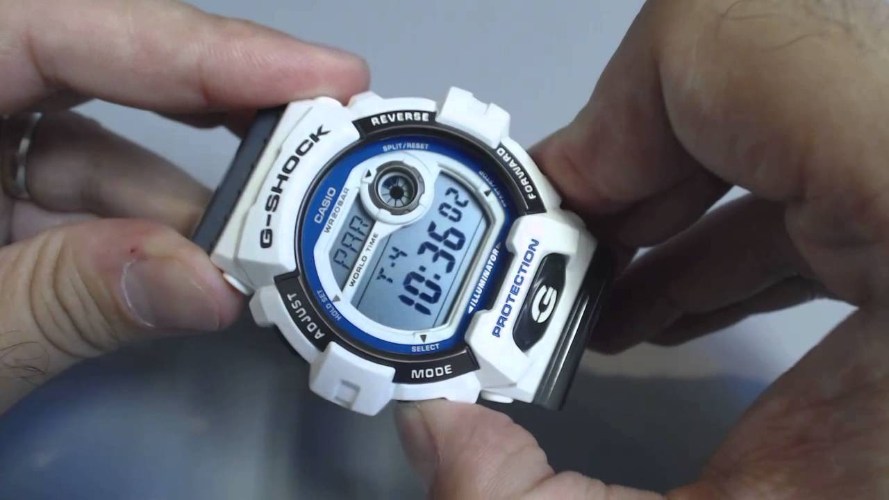 Casio g shock grey and white digital watch g8900sc 7 youtube - Wanduhr digital groay ...