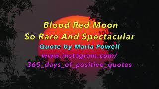 {Blood Red Moon Quotes} - 365 Days Of Inspirational Videos - YouTube Channel - 28 March - Day 87
