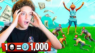 1 ELIMINATION = 1,000 *FREE* VBUCKS W/ LITTLE BROTHER in Fortnite