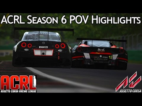 Assetto Corsa Multiplayer: ACRL GT3 Season 6 POV Highlights