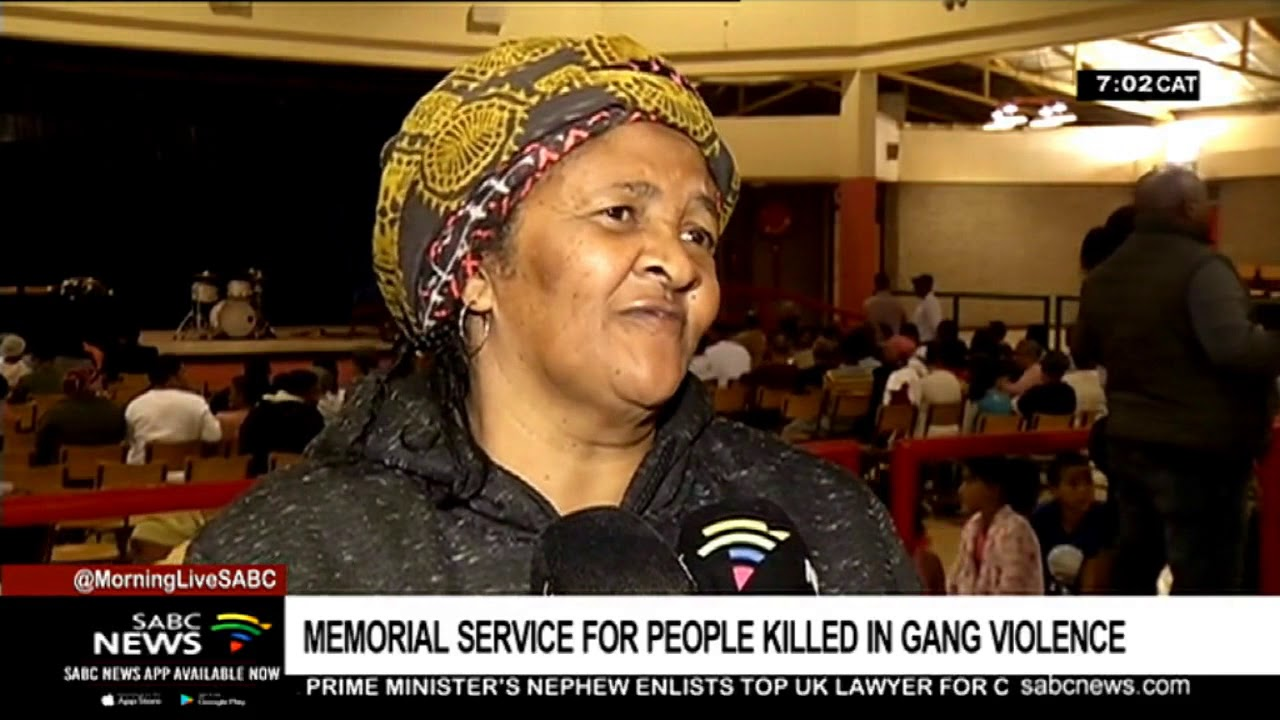Clarke Estate community brave ongoing gang-violence to attend memorial service