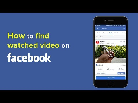 How To Find Facebook Watched Video?. How To Check Facebook History?