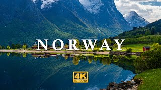NORWAY (4K UHD) Ambient Drone Film + Relaxing Music for Stress Relief, Sleep, Study, Yoga...