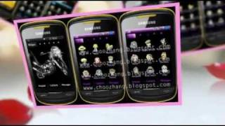 Lady Gaga Themes Samsung Corby 2 Free Download at Choozhang