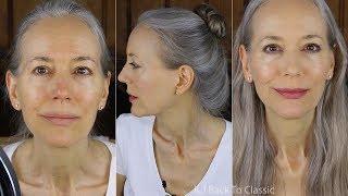 GRWM: Bare Minerals Matte Powder Foundation, RMS Lip2Cheek on Dry Mature Skin / Green Beauty Over 50