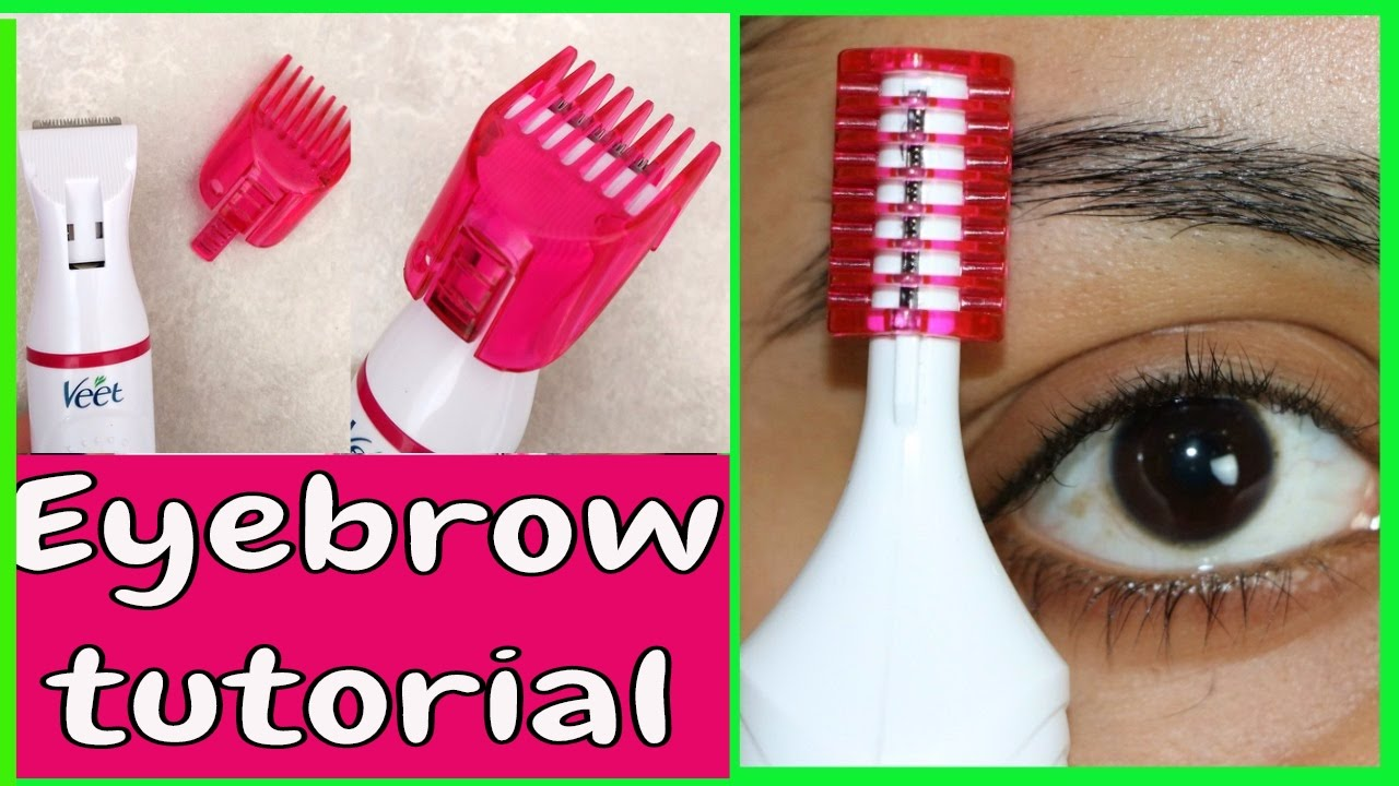 electric eyebrow trimmer. **new veet electric trimmer | eyebrow shaping |tanutalks| - youtube