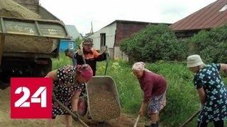 Деревенские бабушки на Урале устали ждать и сами отремонтировали дорогу