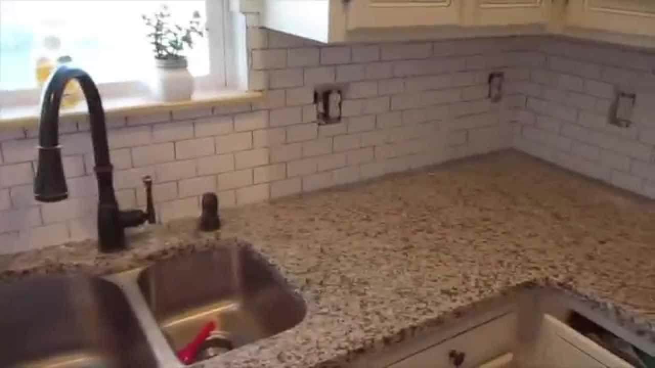 Beau DITL: INSTALLING KITCHEN BACKSPLASH(HOUSEOFMEIS)   YouTube