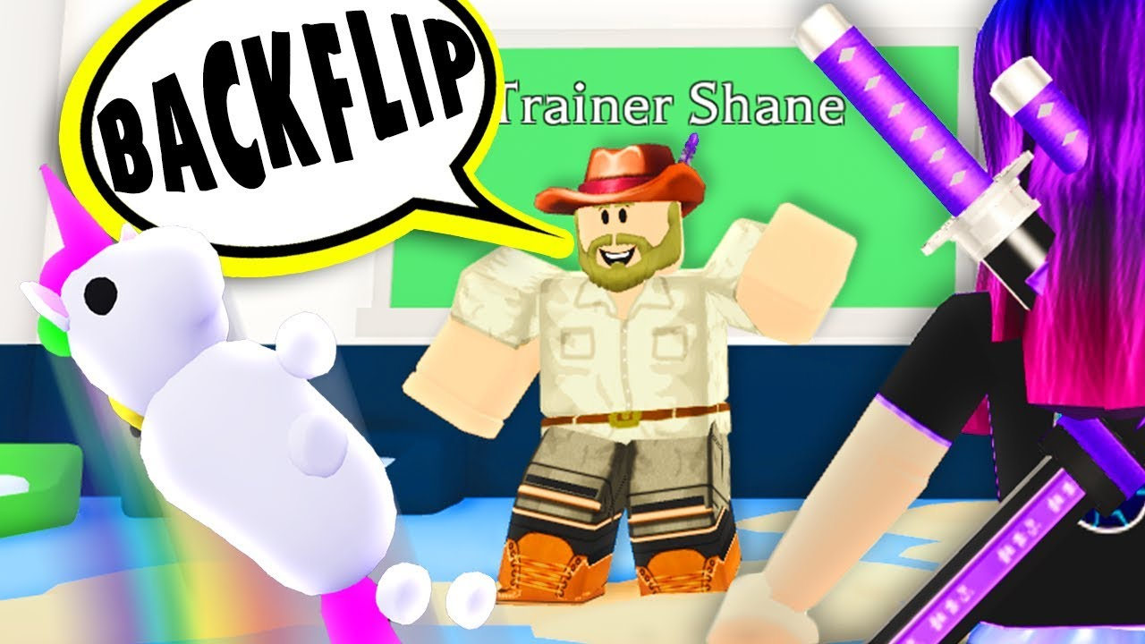 Teaching EVERY TRICK to the RAREST PET in Roblox Adopt Me!