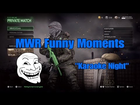 Modern Warfare Remastered Funny Moments (Karaoke Edition)