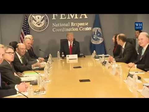 WATCH: President Donald Trump Receives a FEMA Briefing on Hurricane Season