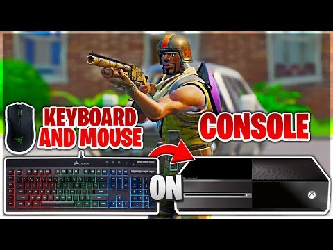 Trying Keyboard And Mouse On CONSOLE In Fortnite! (Console To PC)