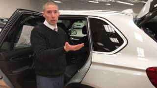 BMW X5 third row seat demonstration