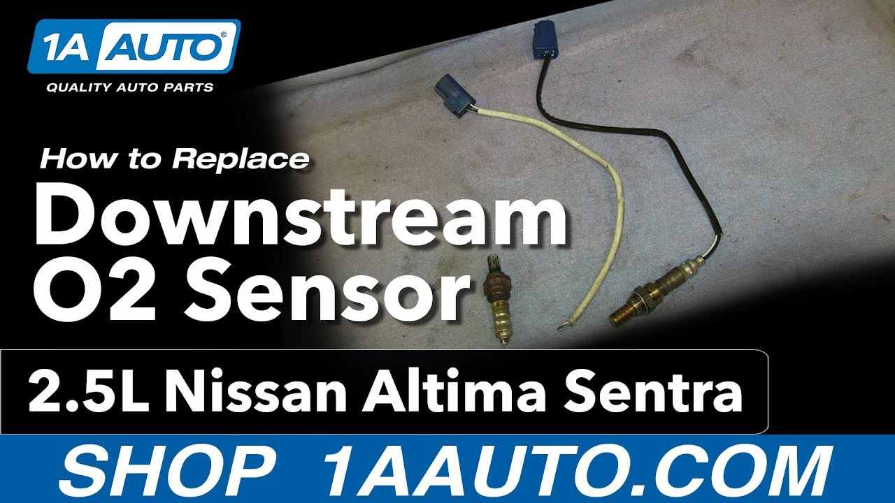 how to install replace downstream oxygen o2 sensor 2 5l nissan altima sentra [ 1280 x 720 Pixel ]