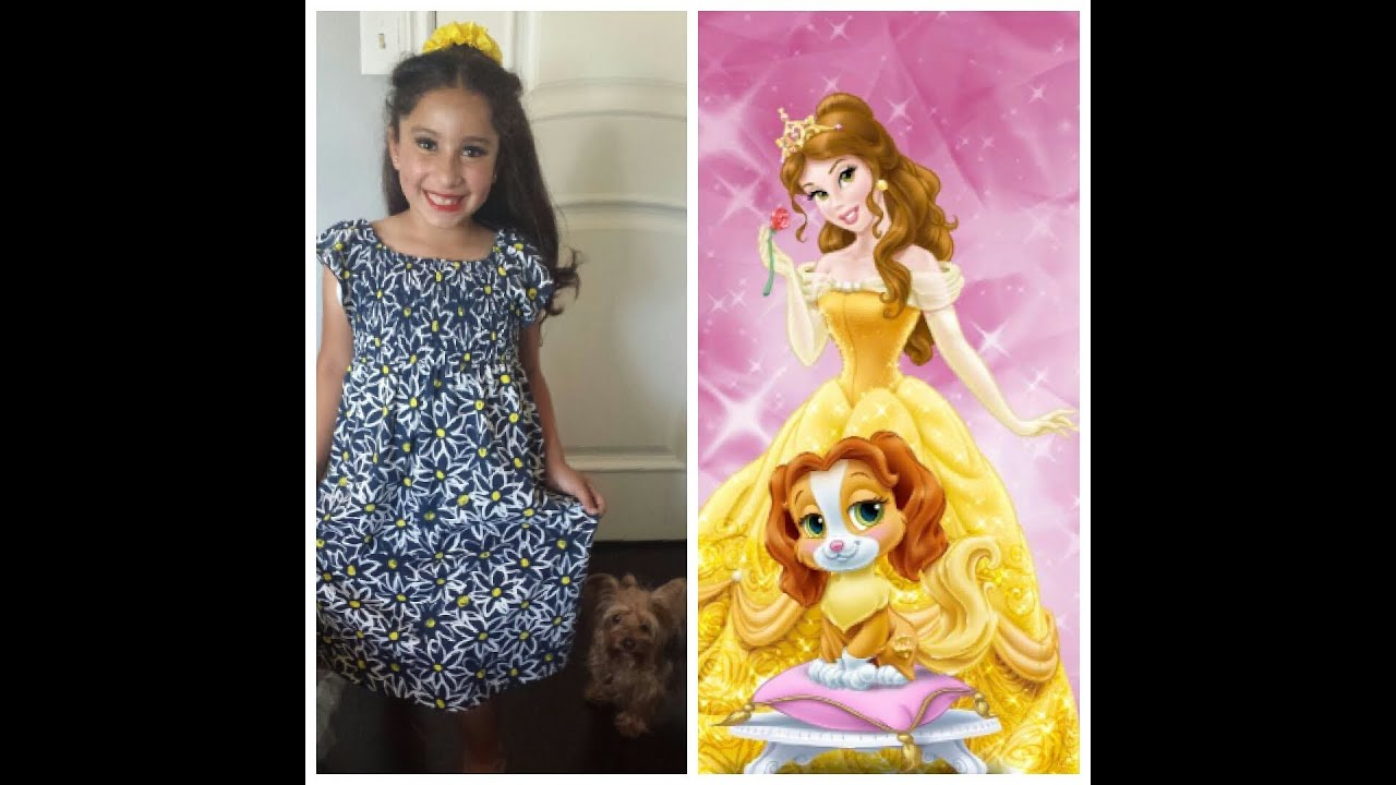 How To Do Princess Belle Hair Tutorial For Kids YouTube