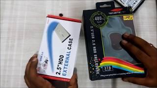 Make Internal hard drive to External HDD - 2.5 SATA External Case HINDI