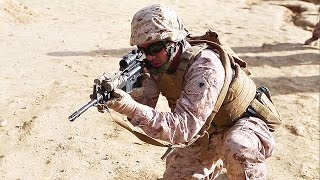 U.S. Marines Train At Shooting Range In Spain
