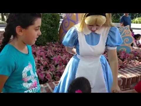 Meeting Alice @ Magic Kingdom Orlando FL
