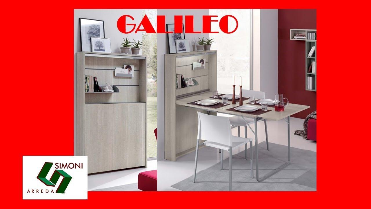 Tavolo consolle a parete modello galileo youtube for Simoni arreda milano