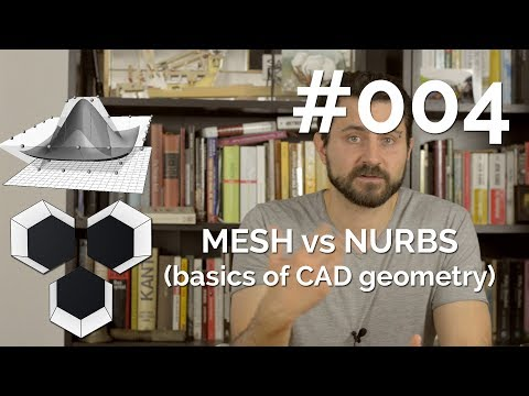 ProArchitect #004 - Mesh vs NURBS (basics of CAD geometry)