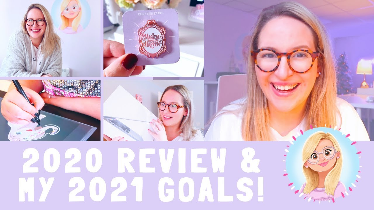 Did I Achieve my 2020 Goals?! Reflecting on the Year & my 2021 Goals! | Emily Harvey Art