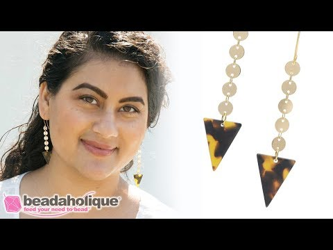 Quick & Easy DIY Jewelry: Triangle Tortoise Shell Acetate Earrings