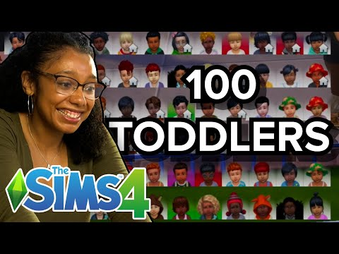 Only Child Tries Raising 100 Toddlers At Once In The Sims 4 |