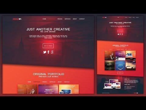 Design a Creative Portfolio Web Design Layout In Photoshop