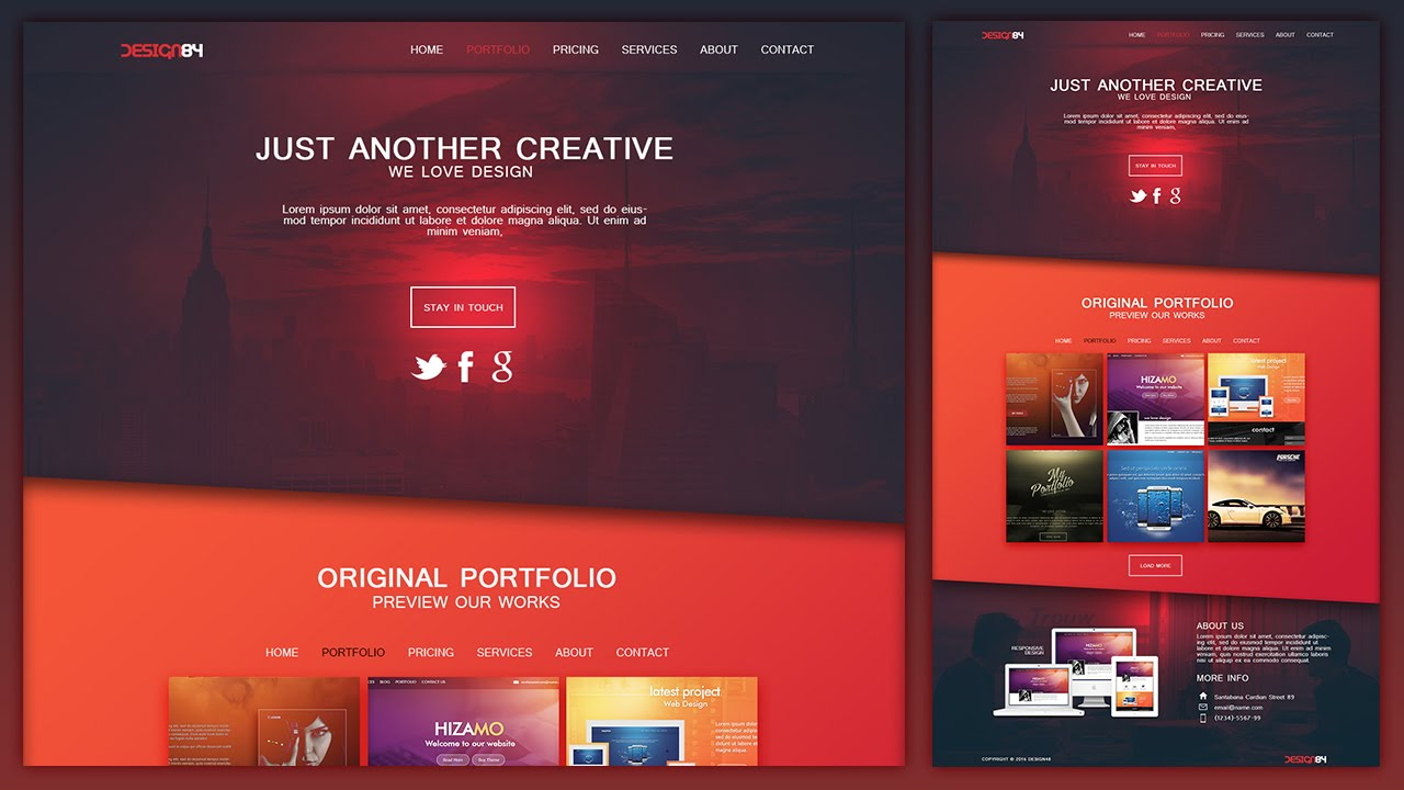Voorkeur Design a Creative Portfolio Web Design Layout In Photoshop - YouTube &OC19