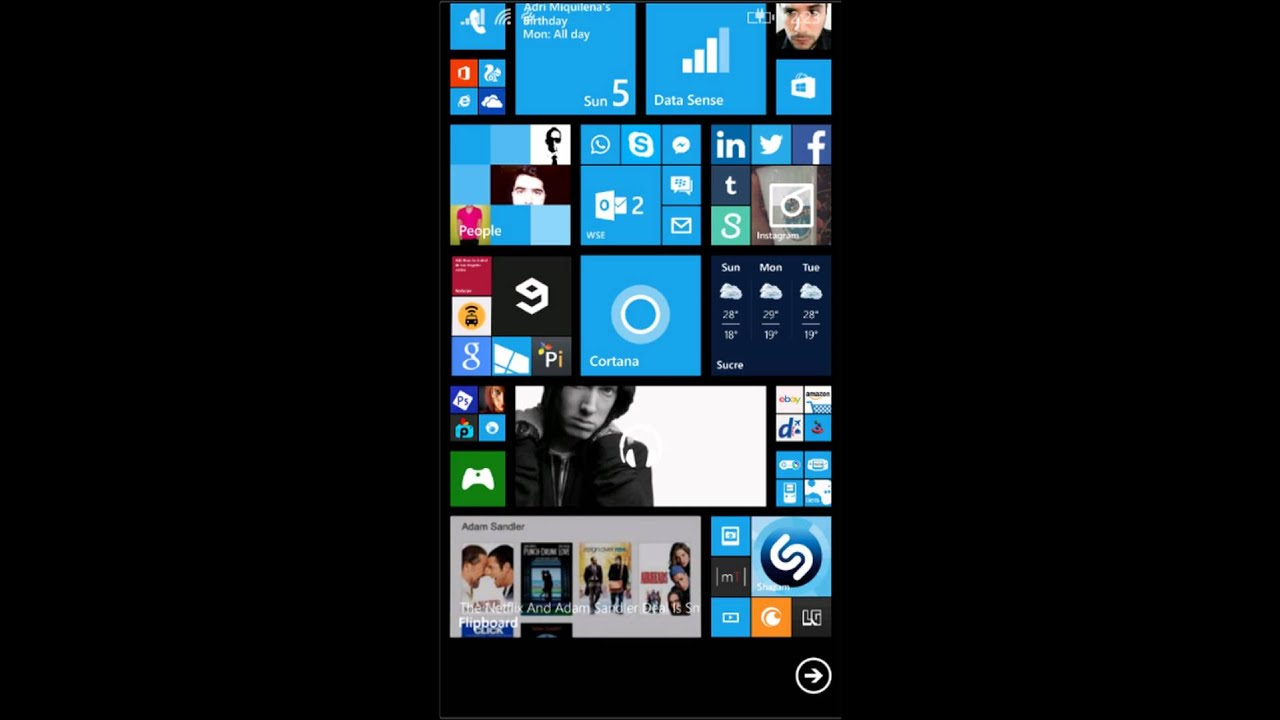 my windows phone 8 1 home screen 10  05  2014