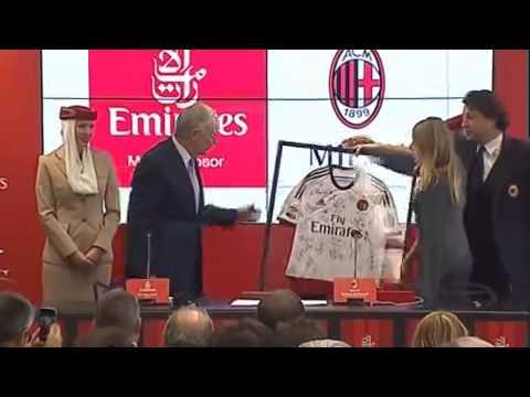 Barbara Berlusconi: 'Milan-Emirates intesa utile per il mercato'. Clark: 'Sostegno per lo stadio'