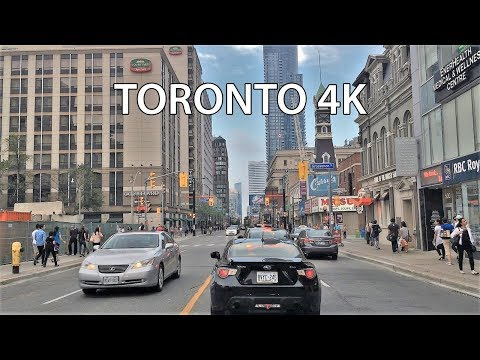 Driving Downtown - Toronto's Main Street 4K - Canada