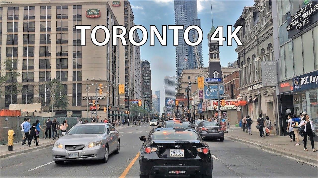 Driving Downtown - Torontos Main Street 4K - Canada