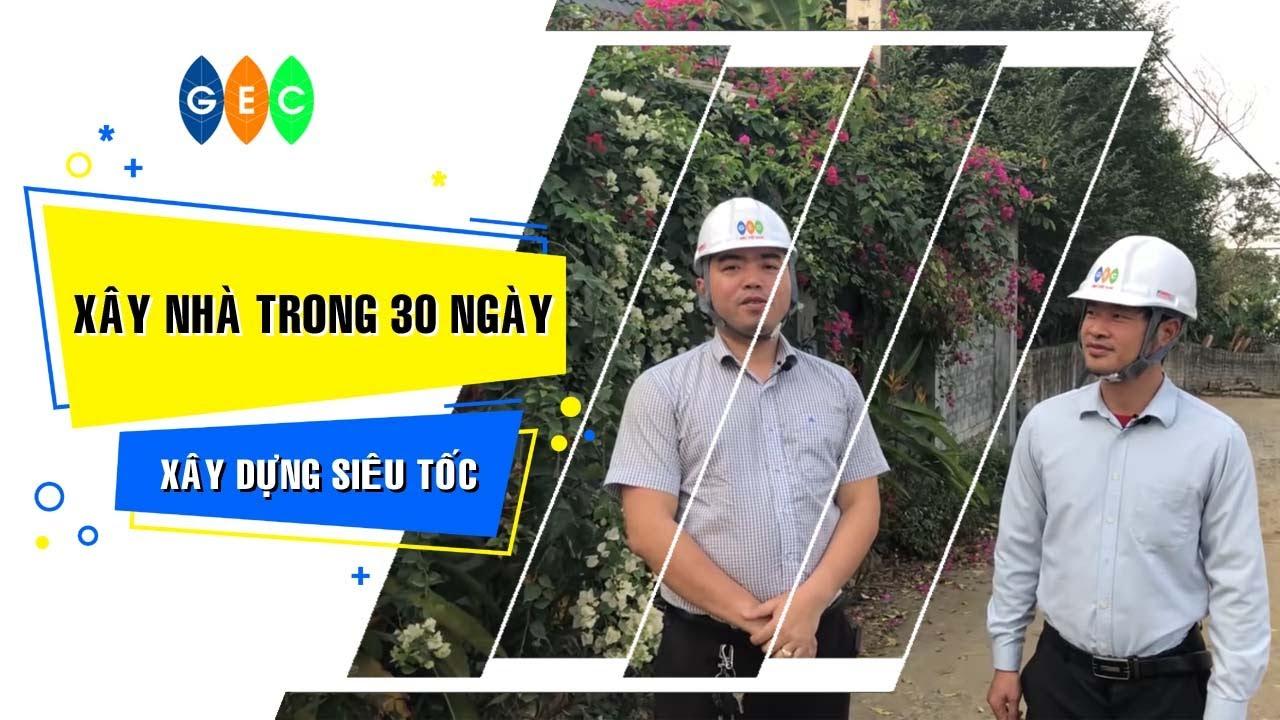 Xây nhà trong 30 ngày tại Phú Mãn (Công nghệ Châu Âu)