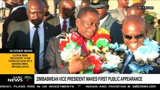 Zimbabwe's vice president makes first public appearance