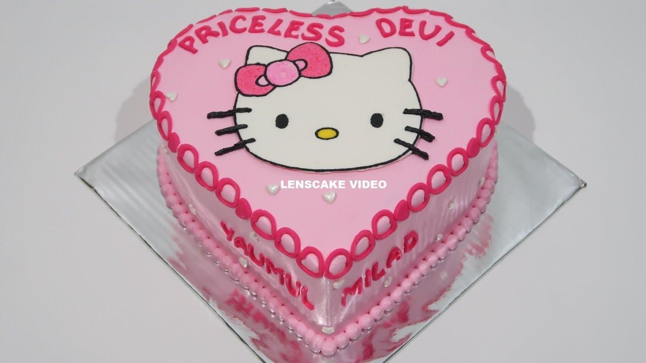 Hello Kitty Cake Love How To Make Birthday Cake Youtube