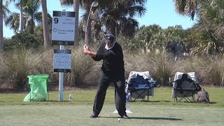 ROCCO MEDIATE DRIVER GOLF SWING 2015 FACE-ON REGULAR & SLOW MOTION TWIN EAGLES COURSE 1080p HD