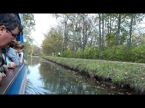Ride on the canal boat at Johnston Farm in Piqua, OH